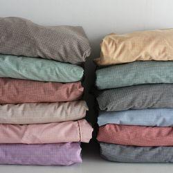 미니 체크 순면 매트리스커버(12colors)(K)