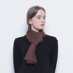 W424 frill scarf brwon