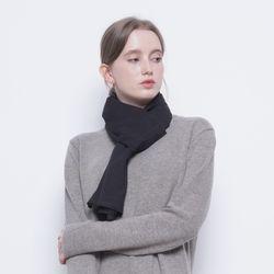 W424 frill scarf black