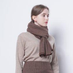 W17 wool scarf brwon