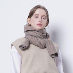 W17 wool scarf beige