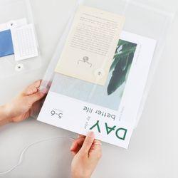 하도메 PVC 파우치 봉투 파일 A6 A4