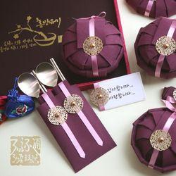 순수담 K3774RA 방짜유기 면기 예단 선물세트 3호