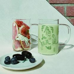 호담국 유리 머그 (Korean Tiger Glass Mug)
