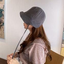 턱끈 워싱 여성 보넷 벙거지 모자 버킷햇
