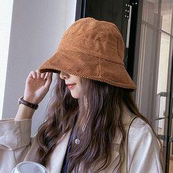노렌 여성 코듀로이 벙거지 버킷햇 모자
