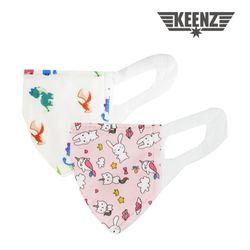 국내산 아기와나 3D입체 유아 어린이 마스크 100매_M사이즈