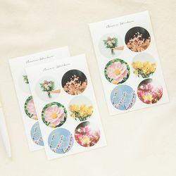 꽃 사진 스티커(3sheet)