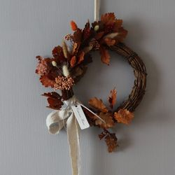 프리저브드 가을오크잎벽걸이리스(L)
