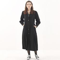 [마나비스세븐] NO COLLAR DRESS BLACK