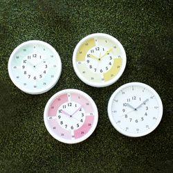 교육용시계 어린이 시계 공부 벽시계(4color)