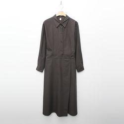Wrap Detail Shirts Long Dress