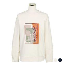 그래픽 맨투맨형 티셔츠 (2colors) CVLWA4903M