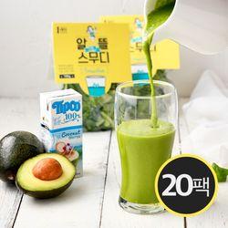 알뜰 그린 스무디(채소 100g+코코넛워터 200ml) 20팩