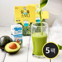 알뜰 그린 스무디(채소 100g+코코넛워터 200ml) 5팩