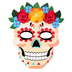 (인디고샵)할로윈 멕시칸 해골 가면