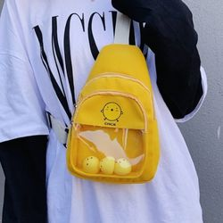 귀여운 병아리 가방 크로스백 슬링백 2type