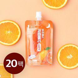 퓨어씨드 과즙 곤약젤리 오렌지맛 100g x 20개