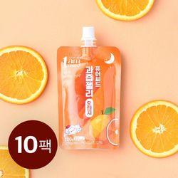 퓨어씨드 과즙 곤약젤리 오렌지맛 100g x 10개