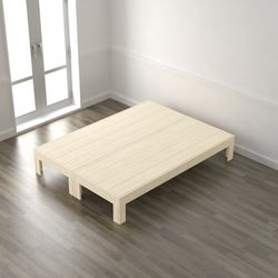 편백나무 평상형 완료 퀸 침대(매트제외) DLA048