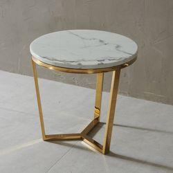 엘린 대리석 원형 골드 테이블 NDD012