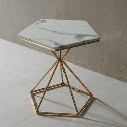 엘린 대리석 오각 골드 테이블 NDD013