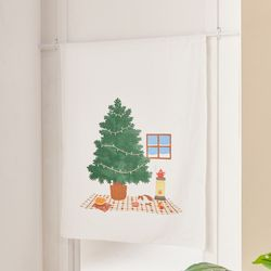 L 따뜻한 우리집, 크리스마스 패널커튼 90x120