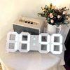 벽시계 LED 무소음 인테리어 대형 디지털 벽걸이 시계 45cm