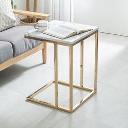 엘린 대리석 사각 골드 테이블 NDD025
