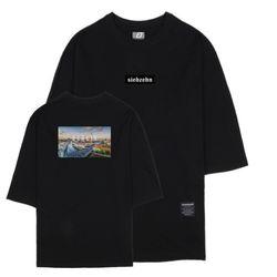 시티뷰 베를린 7부 티셔츠 블랙