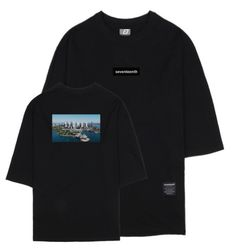 시티뷰 시드니 7부 티셔츠 블랙