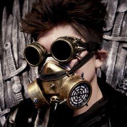 빈티지 산소호흡기 마스크 + 고글세트