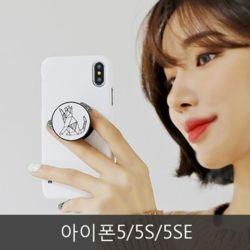 와프 아이폰5/5S/5SE WOS 선애니멀 그립톡케이스