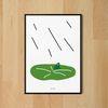 비오는 날 청개구리 M 유니크 디자인 포스터 A3(중형)