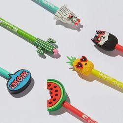 실리콘 패치 연필 (6종) 연필캡 Scented Pencil