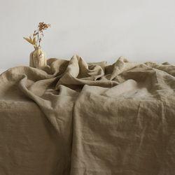 [Fabric] 백마포 크림 샌드 베이지 - 퓨어린넨 캔버스