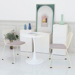 플로윙 13인용 식탁 화이트 원형 테이블 700파이