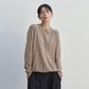 SOFT ROUND NECK KNIT BEIGE