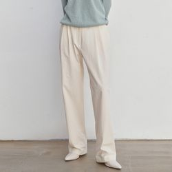 WIDE TWO BUTTON PANTS CREAM