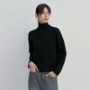 WOOL TURTLENECK KNIT BLACK