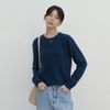 SLIM RACCOON ROUND KNIT NAVY
