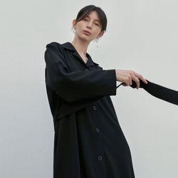 LUSH TRENCH COAT DRESS BLACK