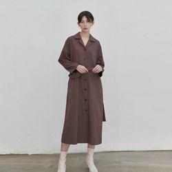LUSH TRENCH COAT DRESS BROWN