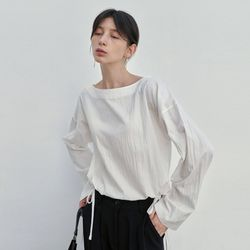 SOFT BOAT STRING BLOUSE IVORY