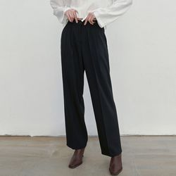 MILD TUCK LONG SLACKS BLACK