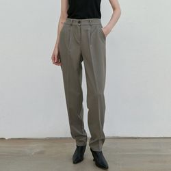 TAPERED SET-UP LONG SLACKS KHAKI