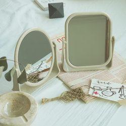 감성 빈티지 양면 탁상 거울 사각 원형