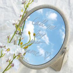 감성 빈티지 양면 탁상 거울 사각 원형 + 화이트마카펜