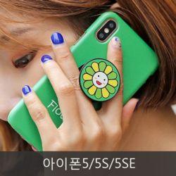 와프 아이폰5/5S/5SE WPO 겸플라워 그립톡케이스