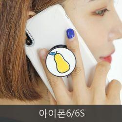 와프 아이폰6/6S WPU 과일 그립톡케이스